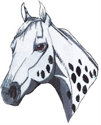 Appaloosa Horse Head  white and blk Large size Embroidery Patch