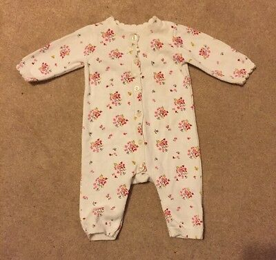 Baby Girls Mothercare All In One Suit, Size Up To 3 Months (up to 14.5lbs), VGC