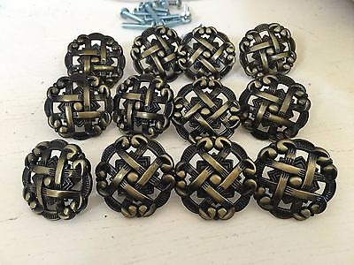 12 Antiqued Bronze Drawer Pulls - NEW