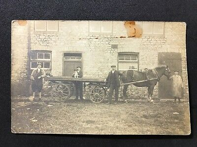 Vintage Postcard - RP Anonymous Group #148 - Horse And Cart