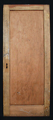 "30""x 75"" Antique Interior Wood Wooden Pine Door Single Recessed Panel"