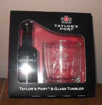 Taylor's Port & Glass Tumbler - Great Christmas Gift - New