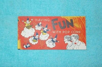 Vintage 1950's Jolly Time Popcorn Activity and Recipe Booklet