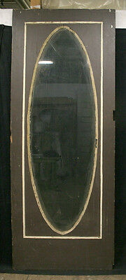 """39""""x 94"""" Antique Exterior Entry Pine Door Full Length Large Oval Glass Lite"""