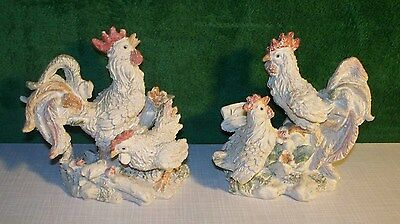 Designspirations Rooster and Hen Set of 2 Figurines Farm Country Chickens