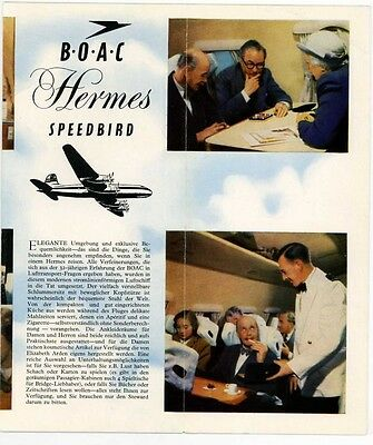 Boac Airline With South African Airways Hermes 1950's Brochure..rare