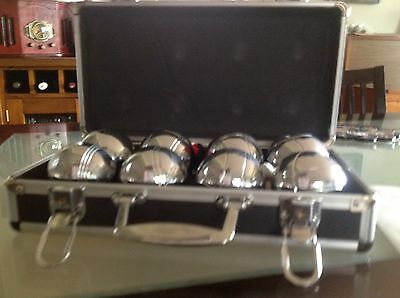French Boule/Pétanque Set. Brand New In Stylish Metal Box