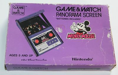 NINTENDO GAME & WATCH - MICKEY MOUSE - Panorama Screen 1984 - BOXED