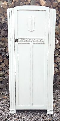 Vintage  Single  Wardrobe Mahogany 20  Th Century Shabby Chic