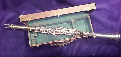 Clari-Met Double-Walled Pro Quality Silver Clarinet (c. 1910) Amazing!
