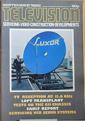 Television Magazine  September 1982 -  LOPT transplant - Philips G11 chassis