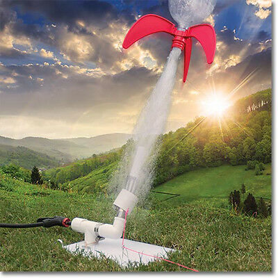 StratoLauncher + StratoFins Soda Bottle Water Rocket Launcher Complete Kit