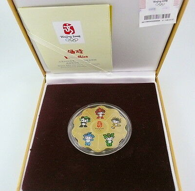 Beijing 2008 Olympic Games Flower-Shaped Mascots Commemorative Medallion