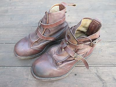 Vintage leather wading boots