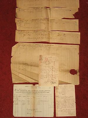 Salford Station, Lancashire & Yorkshire Railway: 8 items of old paperwork 1897/8