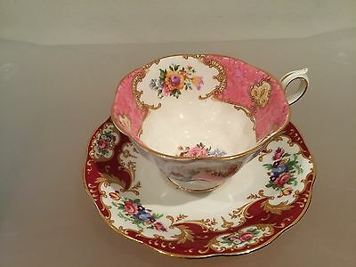 The Cup and saucer. Flowers. Porcelain. Royal Albert. England