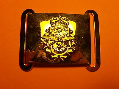 Canada 3 Forces gold plated belt buckle