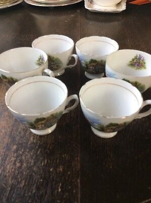 REDUCED ROYAL VALE English Bone China VINTAGE Cups X 6