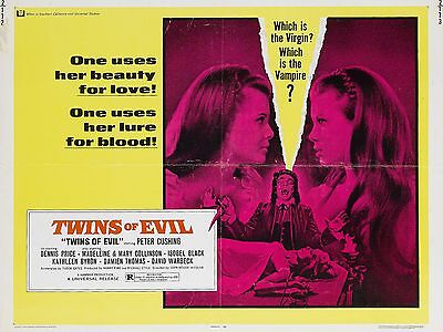 """Twins of Evil 16"""" x 12"""" Repro Movie Poster Photograph 2"""