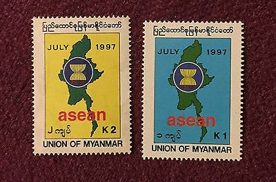 Myanmar 1997 Accession into ASEAN Commemorative Stamp