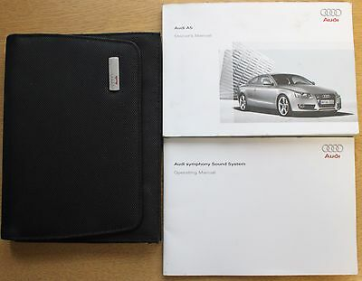 Genuine Audi A5 Coupe Handbook Owners Manual Wallet 2007-2011 Pack 12826