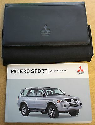 Mitsubishi Pajero Sport Handbook Owners Manual Wallet 2000-2008 Pack 9122