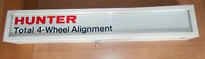 Old Working Hunter Wheel Alignment Lighted Advertising SIGN Light