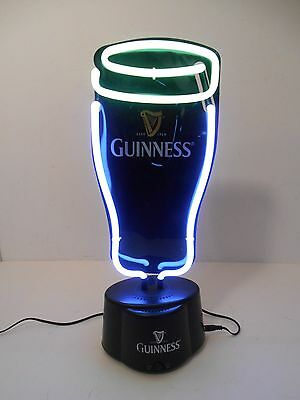 """GUINNESS HARP 16"""" PINT NEON BAR BEER PUB SIGN with AC Adaptor"""