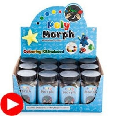 Polymorph Mouldable Plastic Colouring Kit Includes 6 Colours