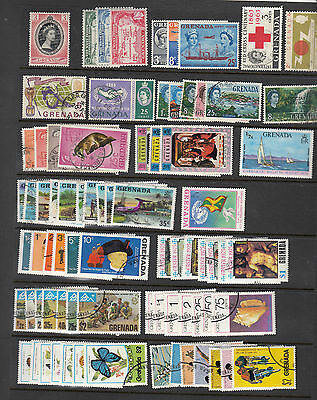 Grenada Collection, 99 stamps between 1953 and 1983, mixed mint and used.