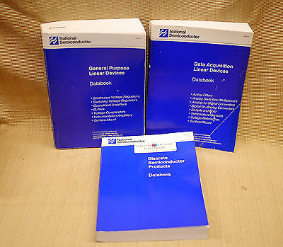 3 National Semiconductor Databooks Linear Devices Discrete Semiconductor 1989