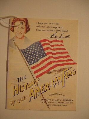 Vintage Chase & Sanborn Coffee Kate Smith History of our American Flag Booklet