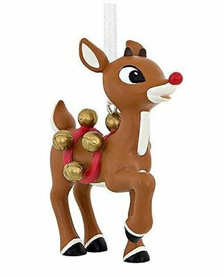 9 Glass Christmas ornament Santas Reindeer Rudolph Red//green HandCrafted freeshp
