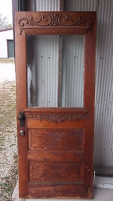 Vintage Wood Door 1/2 Glass 1907