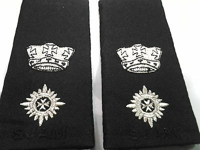 Malaysia St.John Ambulance Officer Slide Ranking 1 Crown 1 Rip ( in pairs)