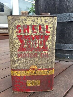 Shell X-100 Motor Oil Can Imperial Gallon