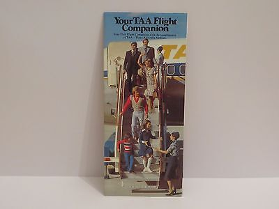 TAA In-Flight Companion with Route Map 1970s - Scare and in MINT condition