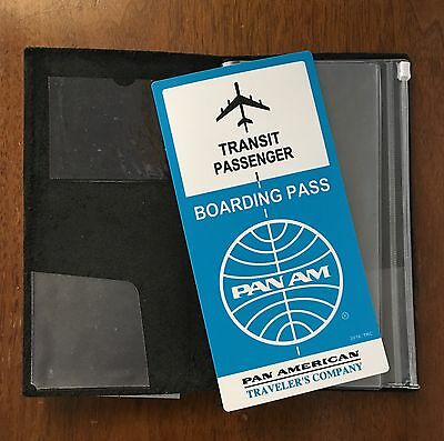 MIDORI Leather Traveler Notebook with Pocket Stickers, Zipper Pocket & Pan Am