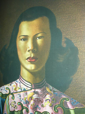 Retro Vintage Frame Large New Print Tretchikoff Lady In Pink