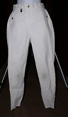 Pikeur White  Knee Patch  Classic Breeches 28 L Long