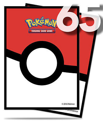 65ct Iconic Pokeball Sleeves Pokemon Card Deck Protector Clear | Ultra Pro