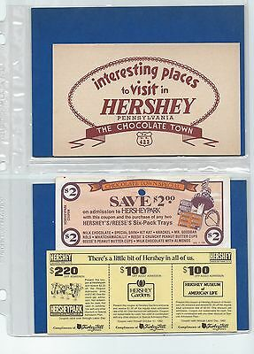 Vintage 1950s to 80s Hersheypark PA Collection of Tickets-Brochures-Memorabilia