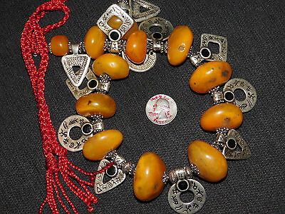 Morocco tribal Jewelry Atlas Berber resin trade beads Necklace
