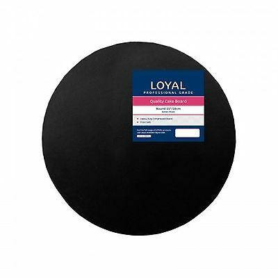 "Loyal Black Round 28cm / 11"" Cake Board"