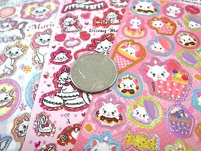 3 SHEETS Kawaii Disney Japan Exclusive MARIE Aristocats Holographic Stickers