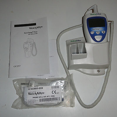 Welch Allyn SureTemp 692 Plus Thermometer w/ oral & rectal probes, wall mount