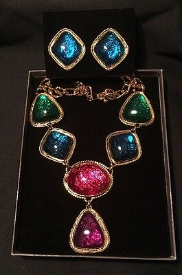 Kenneth Jay Lane KJL For Avon Caprianti Collection Necklace & Matching Earrings