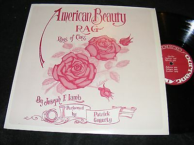 Private / Small Label LP Issue RAGTIME Rags AMERICAN BEAUTY Patrick Gogerty 1976