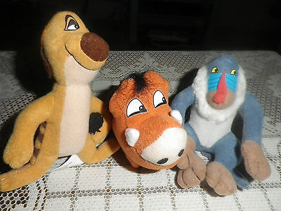 McDONALDS PLUSH TOYS 1998 THE LION KING II SIMBA'S PRIDE