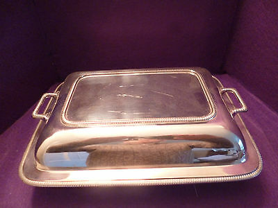 A Fabulous Looking Vintage Silver Plated Entree Serving Tureen Dish